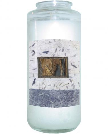 Devotional Candle - Window Over Water by B. Gilroy