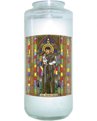 Devotional Candle - St. Anthony of Padua by B. Nippert