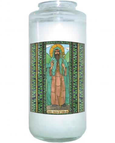 Devotional Candle - St. Declan of Ardmore by B. Nippert