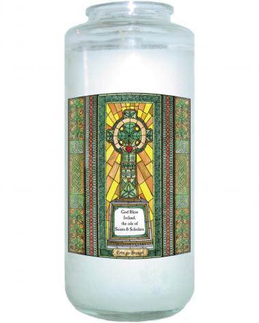 Devotional Candle - Celtic Cross by B. Nippert
