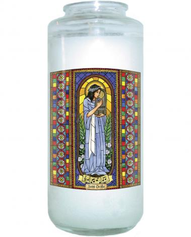 Devotional Candle - St. Cecilia by B. Nippert