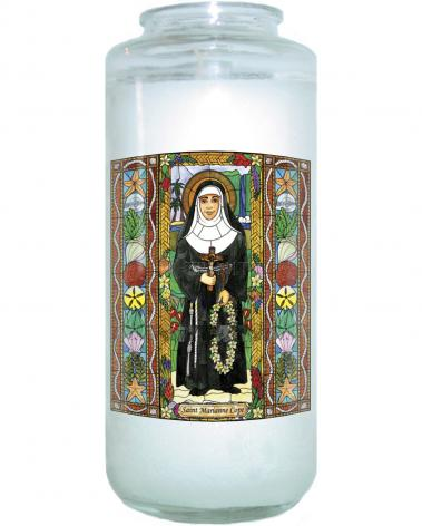 Devotional Candle - St. Marianne Cope by B. Nippert