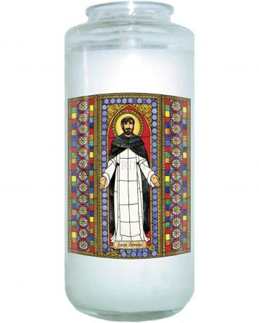 Devotional Candle - St. Dominic by B. Nippert
