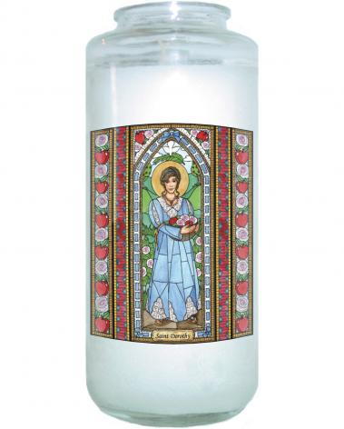 Devotional Candle - St. Dorothy by B. Nippert