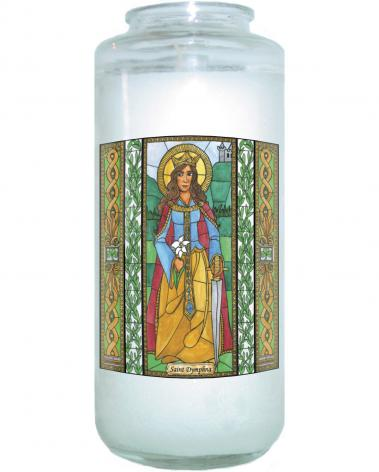 Devotional Candle - St. Dymphna by B. Nippert