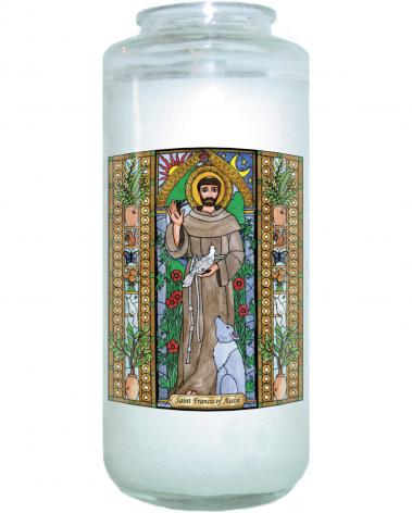Devotional Candle - St. Francis of Assisi by B. Nippert