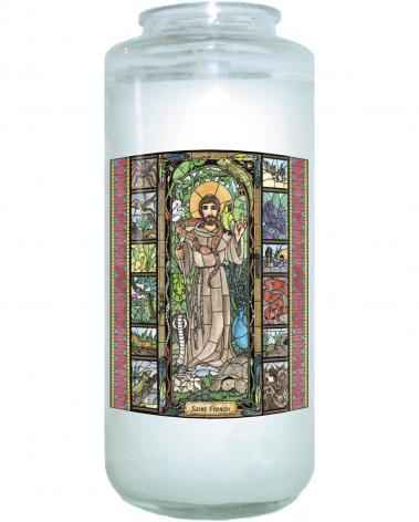 Devotional Candle - St. Francis - Patron of Exotic Animals by B. Nippert