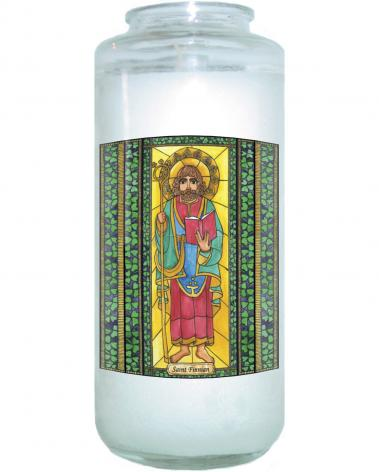 Devotional Candle - St. Finnian by B. Nippert
