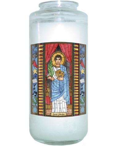 Devotional Candle - St. Genesius by B. Nippert