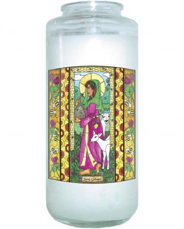 Devotional Candle - St. Gobnait by B. Nippert