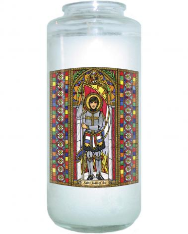 Devotional Candle - St. Joan of Arc by B. Nippert