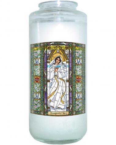 Devotional Candle - Assumption of Mary by B. Nippert