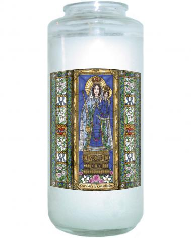 Devotional Candle - Our Lady of Consolation by B. Nippert