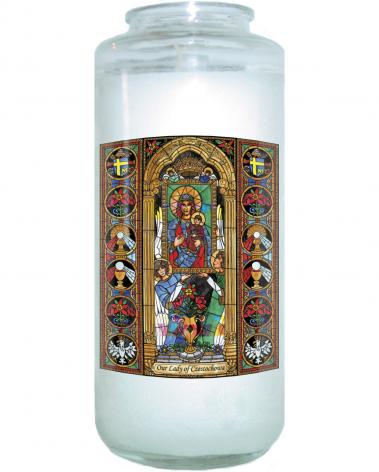 Devotional Candle - Our Lady of Czestochowa by B. Nippert