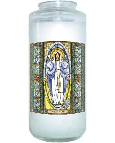 Devotional Candle - Our Lady of Grace by B. Nippert