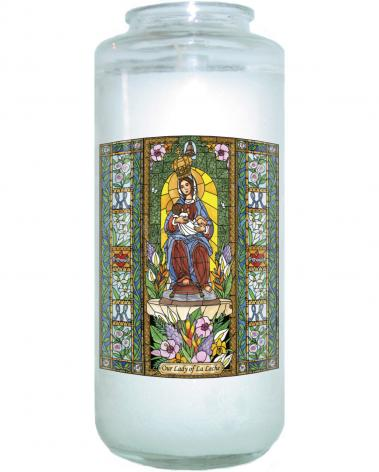 Devotional Candle - Our Lady of the Milk by B. Nippert