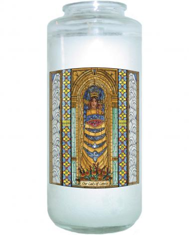 Devotional Candle - Our Lady of Loreto by B. Nippert