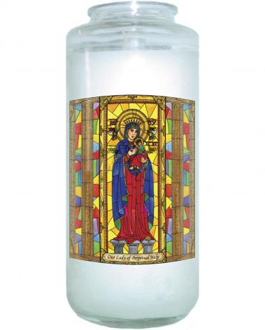Devotional Candle - Our Lady of Perpetual Help by B. Nippert