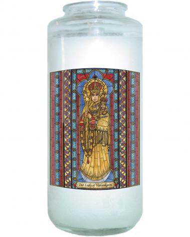 Devotional Candle - Our Lady of Vailankanni by B. Nippert