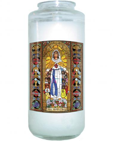 Devotional Candle - Mary, Mother of Mercy by B. Nippert