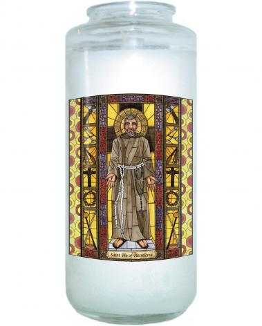 Devotional Candle - St. Padre Pio by B. Nippert