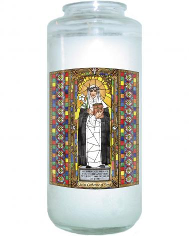 Devotional Candle - St. Catherine of Siena by B. Nippert