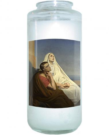 Devotional Candle - Sts. Augustine and Monica by Museum Art