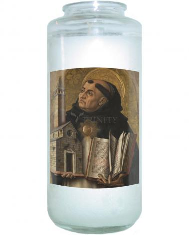 Devotional Candle - St. Thomas Aquinas by Museum Art