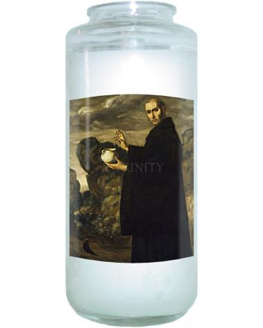 Devotional Candle - St. Benedict of Nursia by Museum Art