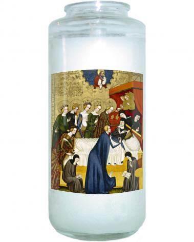 Devotional Candle - Death of St. Clare of Assisi by Museum Art