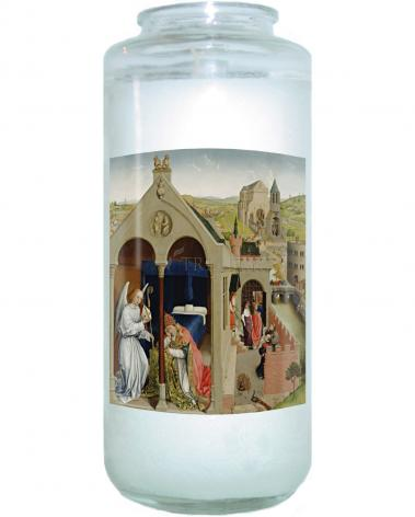 Devotional Candle - Dream of St. Sergius I by Museum Art