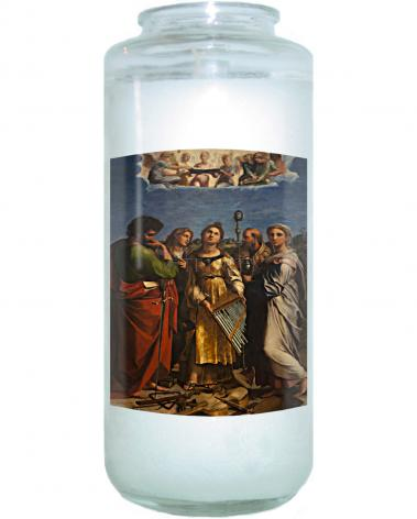 Devotional Candle - Ecstasy of St. Cecilia by Museum Art