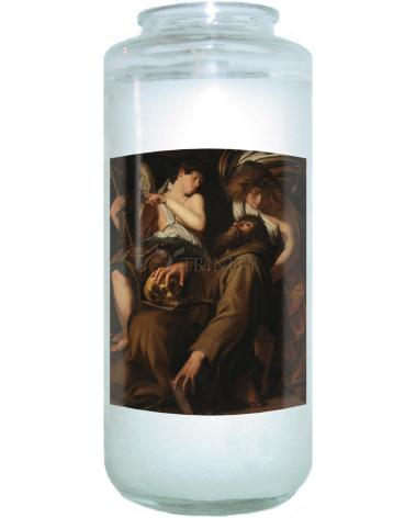 Devotional Candle - Ecstasy of St. Francis of Assisi by Museum Art