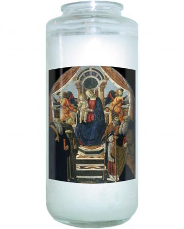 Devotional Candle - Madonna and Child Enthroned with Saints and Angels by Museum Art