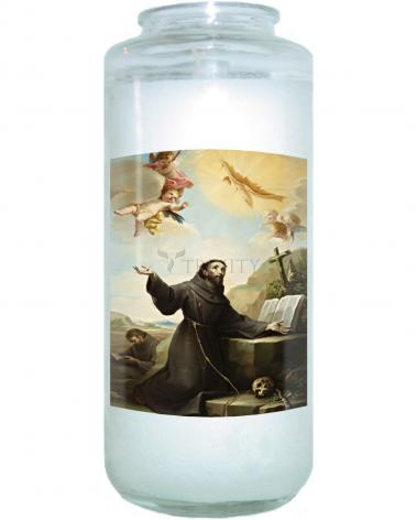 Devotional Candle - St. Francis of Assisi Receiving Stigmata by Museum Art