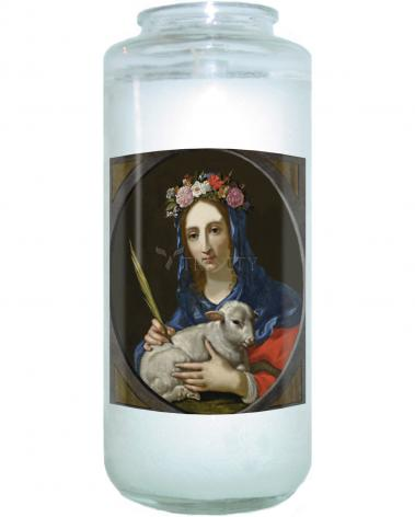 Devotional Candle - St. Agnes by Museum Art