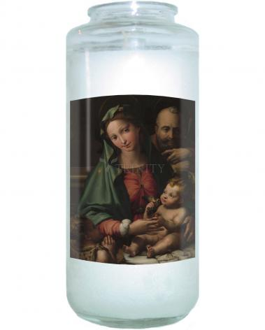 Devotional Candle - Holy Family with Infant St. John the Baptist by Museum Art