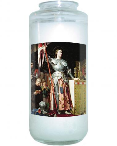 Devotional Candle - St. Joan of Arc at Coronation of Charles VII by Museum Art