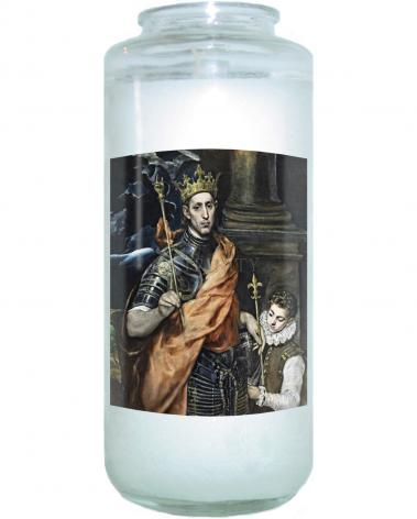 Devotional Candle - St. Louis, King of France by Museum Art