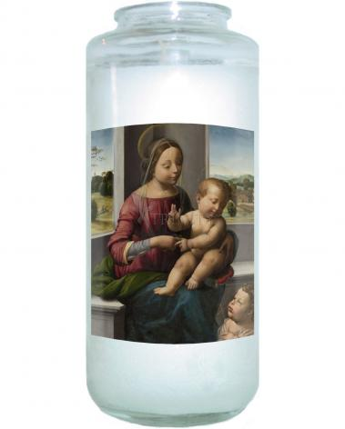 Devotional Candle - Madonna and Child with Young St. John the Baptist by Museum Art