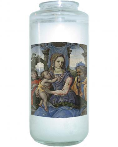 Devotional Candle - Madonna and Child with St. Joseph and Angel by Museum Art
