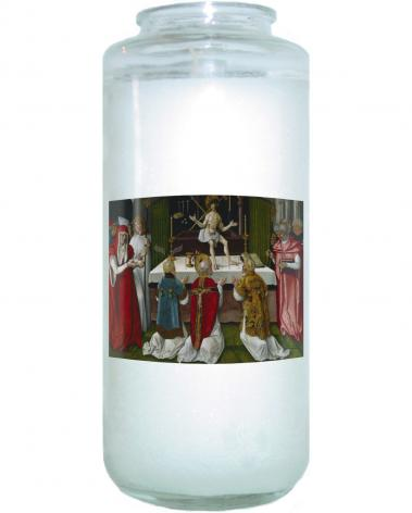 Devotional Candle - Mass of St. Gregory the Great by Museum Art