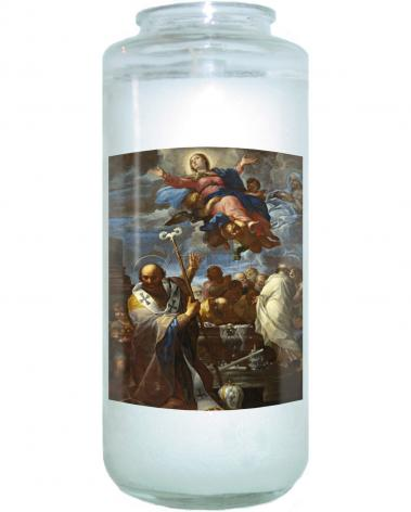 Devotional Candle - Assumption of Mary with Sts. Anne and Nicholas of Myra by Museum Art