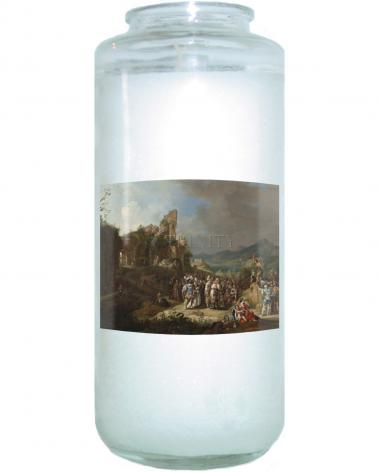 Devotional Candle - Preaching of St. John the Baptist by Museum Art