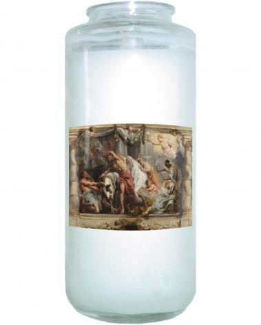 Devotional Candle - Triumph of the Eucharist over Idolatry by Museum Art