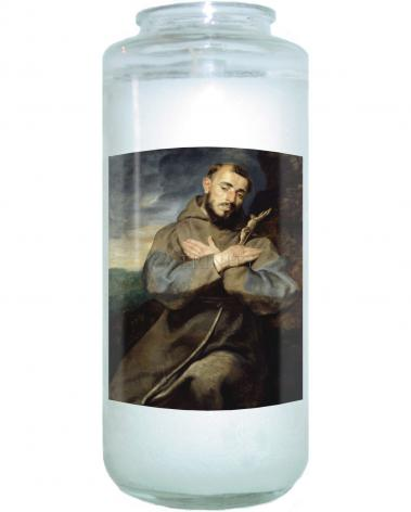 Devotional Candle - St. Francis of Assisi by Museum Art