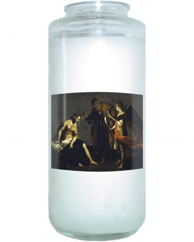 Devotional Candle - St. Agatha Attended by St. Peter and Angel in Prison by Museum Art