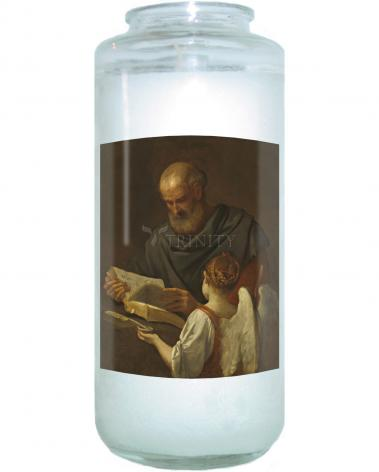 Devotional Candle - St. Matthew and Angel by Museum Art