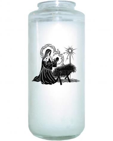 Devotional Candle - St. Bernadette of Lourdes - Manger by D. Paulos