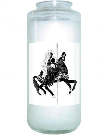 Devotional Candle - Carousel Madonna by D. Paulos